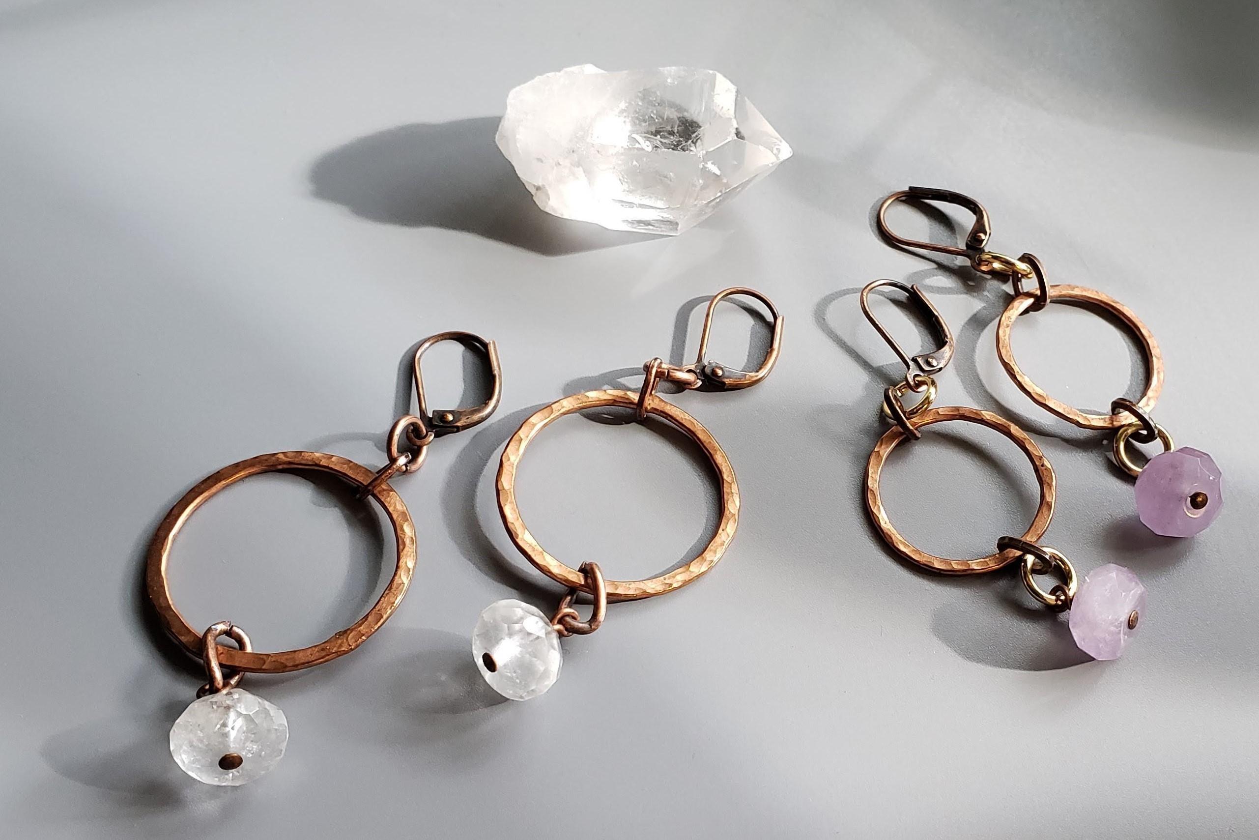 Hammered-Copper-Earrings-by-Jennifer-Park